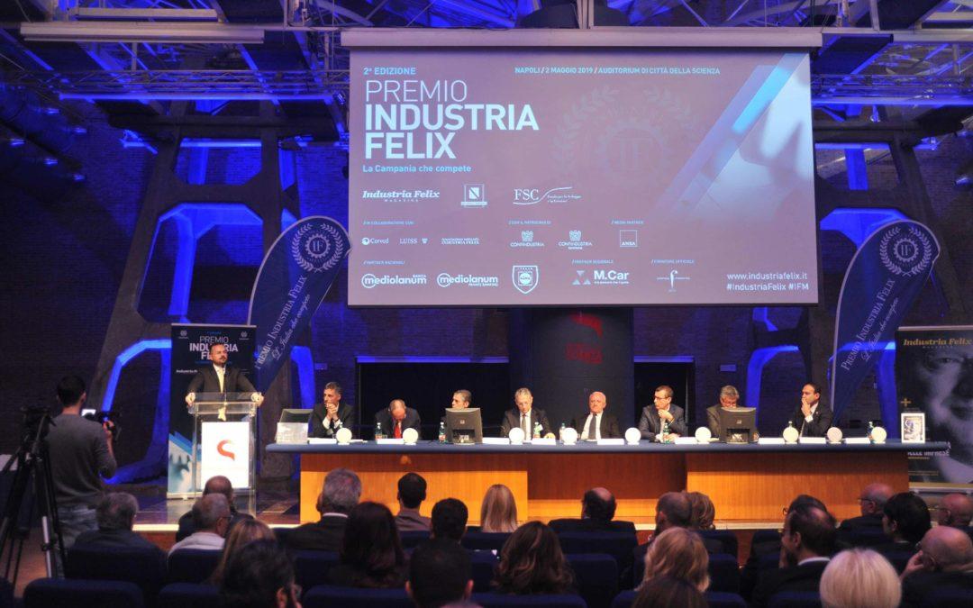 Il tavolo dei relatori di Industria Felix 2019 a Napoli