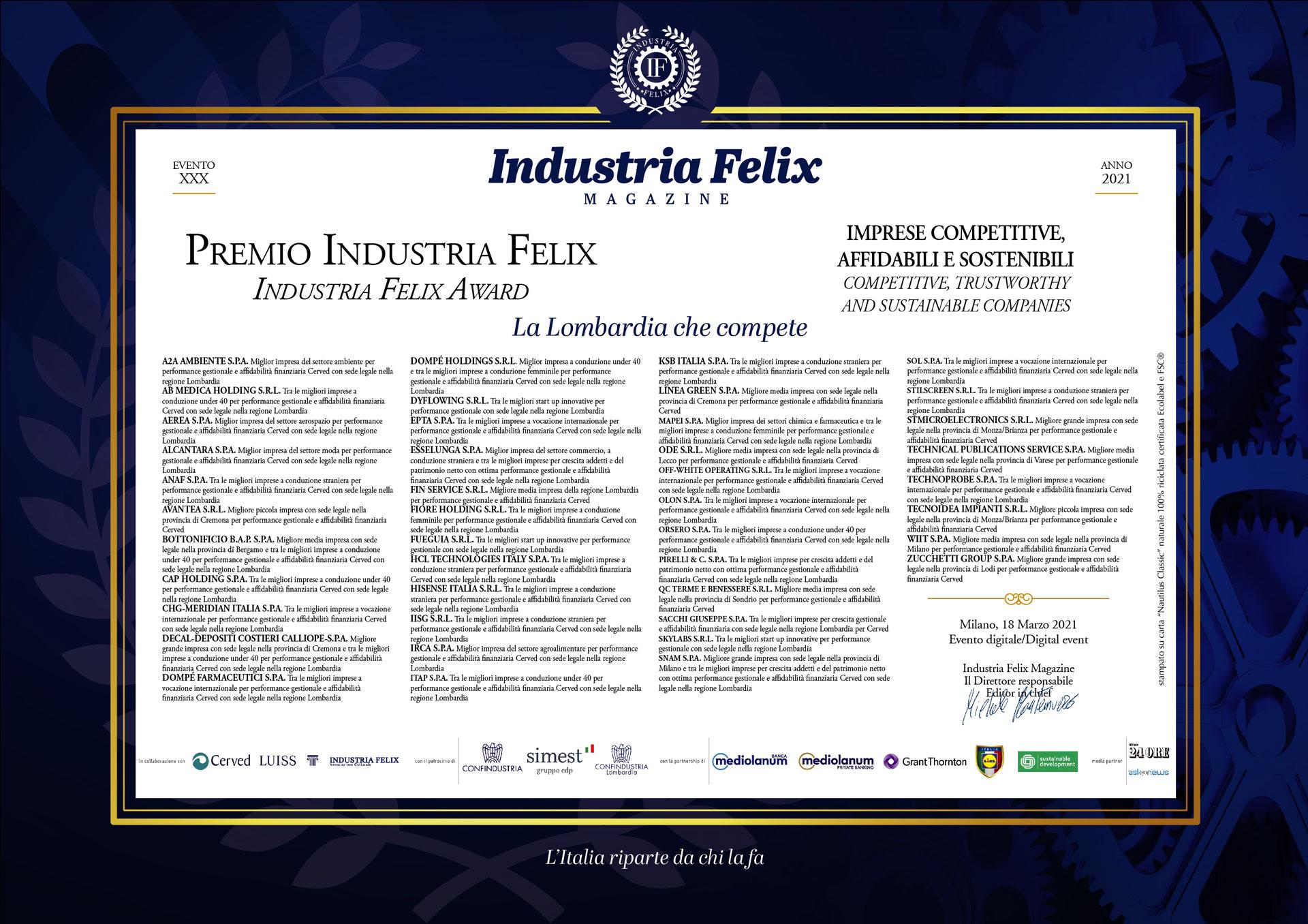Albo d'Oro 2021: Veneto, Trentino Alto Adige, Friuli Venezia Giulia (22/04/2021)
